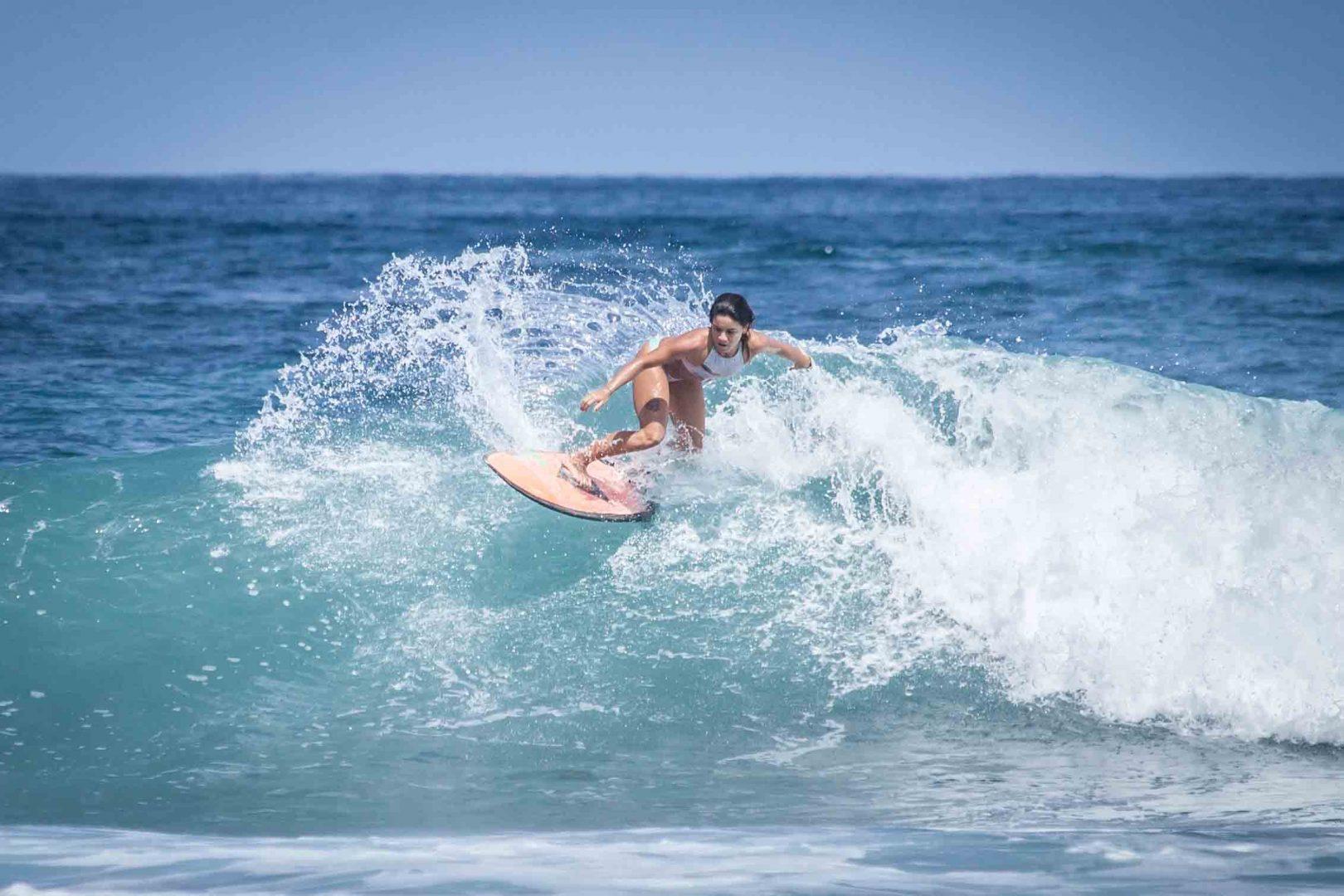 Surfing in Montañita, Ecuador